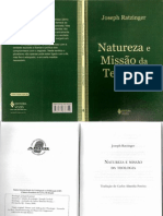 164068944 RATZINGER J Natureza e Missao Da Teologia