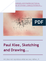 Paul Klee, Sketching and Drawing...