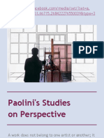 Paolini's Studies on Perspective