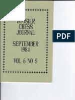 Hoosier Chess Journal Vol. 6, No. 5 Sep 1984