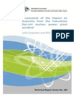 Assessment of Impact of Fukushima to Australia