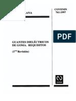 0761 Guantes Dielectricos de Goma, Requisitos