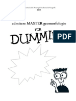 Admitere master Geomorfologie for Dummies
