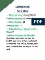 Candidatura a STAFF