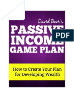Passive Income Game Plan - Learn how to create or find passive income opportunities for your business or personal finances