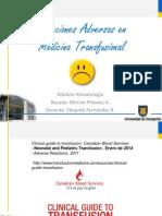 Reacciones Adversas a La Transfusión