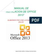 Manual de Instalacion de Office 2013