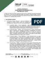 Edital Vestibular 1 2014 Corrigido