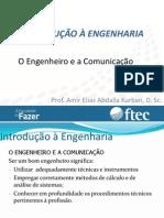 Introdução à Engenharia - o Engenheiro e Os Processos de Comunicação