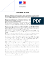 Communiqué de presse du CSFPT du 25 novembre 2009