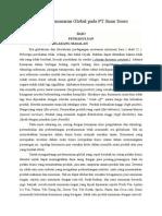 Strategi Pemasaran Global Pada PT sosro