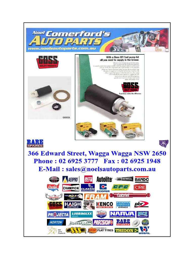 FUEL PUMP GossCatalogue | Fuel Injection | V8 Engine