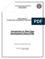 Written Report in HTML