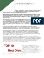 La limpieza, las dietas de desintoxicación no es sostenible