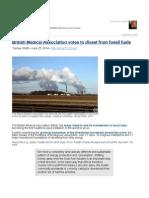 British Medical Association vs. Fossil Fuels