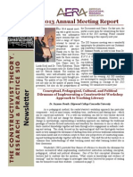Constructivist SIG Newsletter June 2014