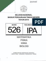 Snmptn Ipa 2010 (Kode Soal 526)