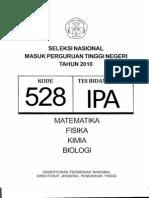 Snmptn Ipa 2010 (Kode Soal 528)