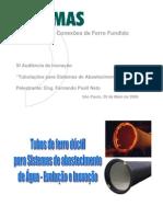 Tubulações Para Sistemas de Abastecimento de Água_ Tubos de Ferro Fundido 01