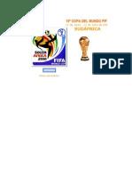 Fixture Mundial 2010