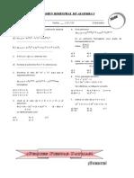 Examen Bimestral de Algebra i - 1º - Iib