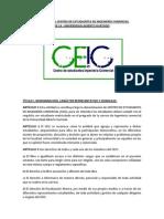 Estatutos Del Centro de Estudiantes de Ingeniería Comercialde La Universidad Alberto Hurtado