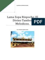 Lama Zopa Rinpoche El Divino Tambor Melodioso.