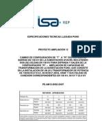 PE AM12 DISE D407 (3) Especificaciones Tecnicas Llegada Puno
