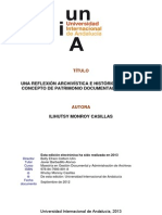 Una Reflexión Archivistica e Histórica Sobre El Concepto de Patrimonio Documental en Mexico
