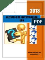 2013 Glosario de Investigación