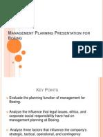 Management Planning Presentation for Boeing
