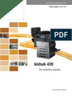 Brochure Bizhub 420