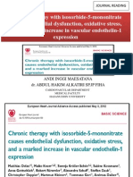 Chronic Therapy With Isosorbide-5-Mononitrate Causes Endothelial Dysfunction,