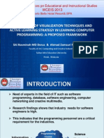 INTEGRATION OF VISUALIZATION TECHNIQUES AND ACTIVE LEARNING STRATEGY IN LEARNING COMPUTER PROGRAMMING