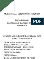 Perkembangan Mediasi Di Indonesia