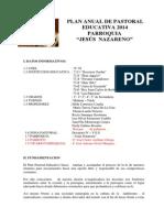 Plan Pastoral Educativo 2014