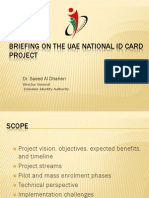 Breifing on the UAE National ID Card Program