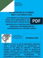 Actualización de La Norma Nmx c 156 Onncce 2010