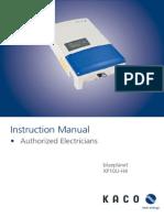 Blueplanet XP10U-H4 Installation Instructions