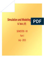 SMS BTECH (IT) Simulation and Modeling Pt1