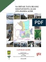 Rencana Detail Tata Ruang Kuta Alam Banda Aceh Laporan Akhir