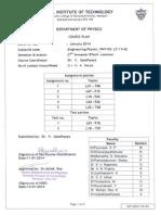 Manipal BTech Phys Course Plan 2014Jan