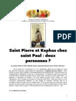 Une Distinction Entre Képhas Et Pierre Chez Saint Paul