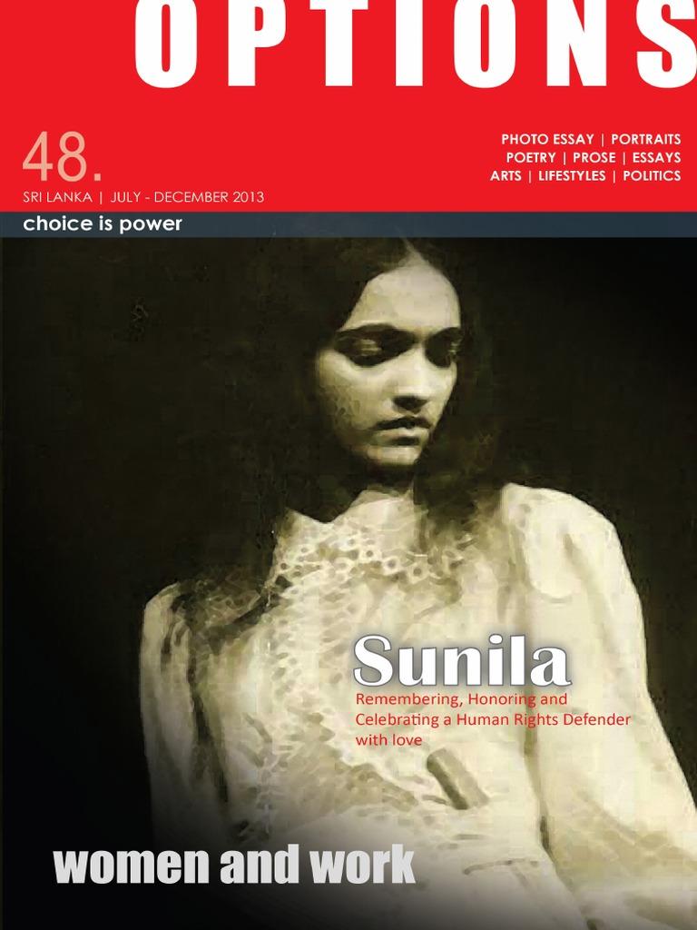 OPTIONS (48) 2013: Second issue | Etnia, raza y género | Feminism