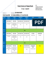 Programme Cluster A - Venice School 2014