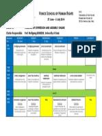 Programme Cluster C - Venice School 2014