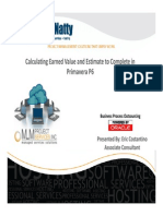October 2012 Webinar Calculating Earned Value and Estimate to Complete in P6