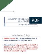 JEE 2013 Report