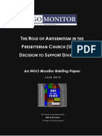 The Role of Antisemitism in the Presbyterian Church (USA)´s Decision to Support Divestment