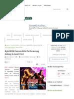 KyleOPEN Custom ROM for Samsung Galaxy S Duos S7562